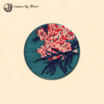 Grande broche brodée fleur de sureau