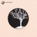 grande broche broderie arbre d'hiver