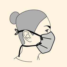 masque Lacet autour de la tête