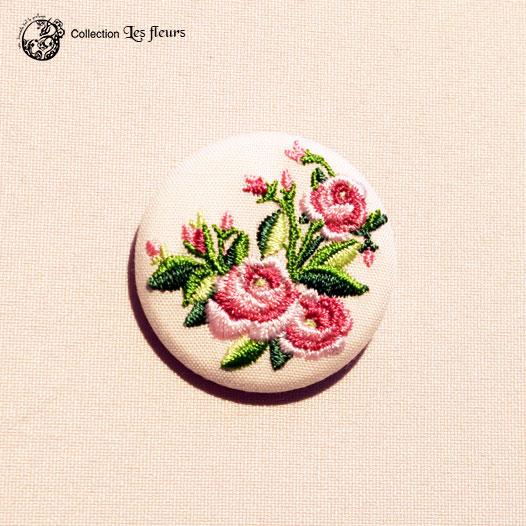 Broche brodée Les roses de Maria