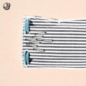 Masque homologué en tissus broderie sardinettes